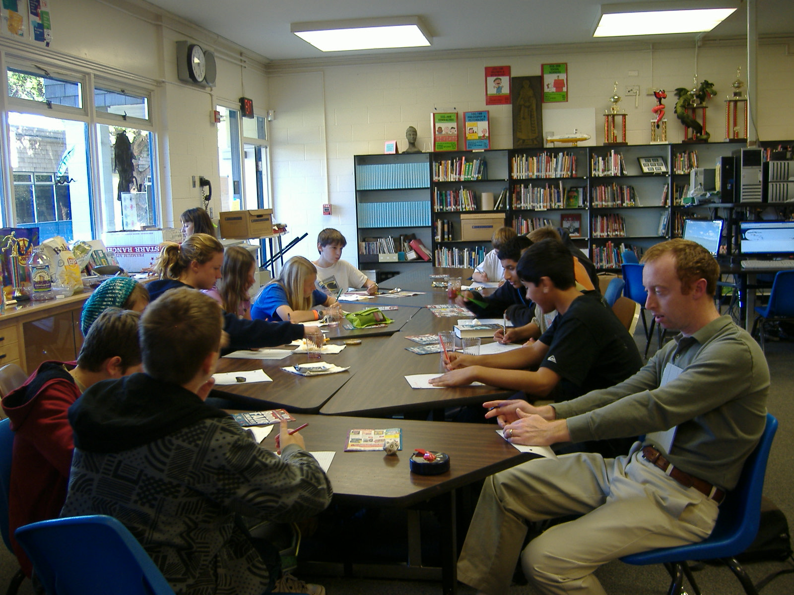 Mr. Simms & group play Scattegories